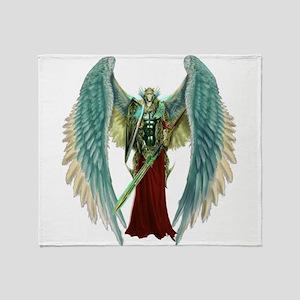 Angel Michael Throw Blanket