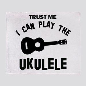 Cool Ukulele designs Throw Blanket