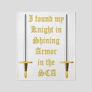 Knight in Shining Armor 2 Throw Blanket