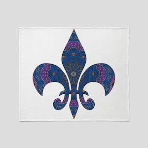 Alchemy Fleur De Lys Throw Blanket