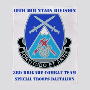 DUI-10 MTN DIV 3BCT SPECIAL TROOPS   Throw Blanket