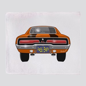 1969 Charger Bumper Throw Blanket
