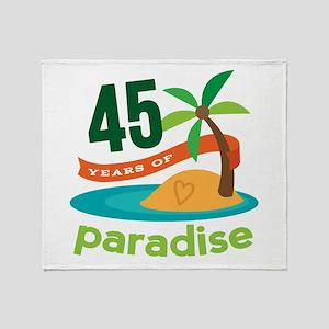 45th Anniversary (tropical) Throw Blanket