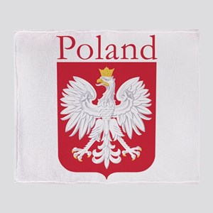 Poland White Eagle Throw Blanket