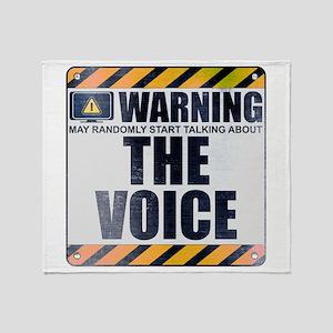 Warning: The Voice Stadium Blanket