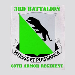 3-69 ARMOR RGT WITH TEXT Throw Blanket