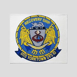 USS Yorktown Apollo 8 Throw Blanket