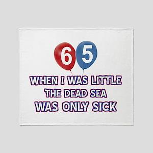 65 year old dead sea designs Throw Blanket