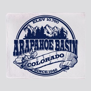 A-Basin Old Circle Blue Throw Blanket