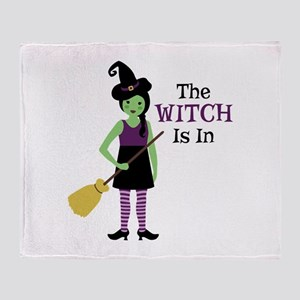 The Witch Is In Throw Blanket