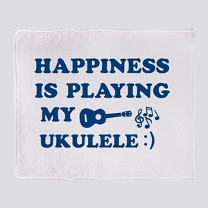 Ukulele Vector Designs Throw Blanket