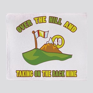 Golfing Humor For 40th Birthday Throw Blanket