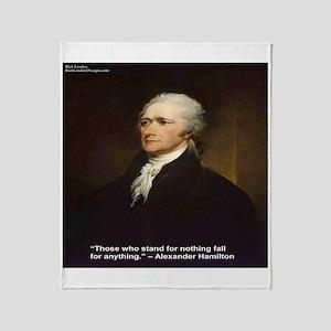 Alexander Hamilton & Fall For Throw Blanket
