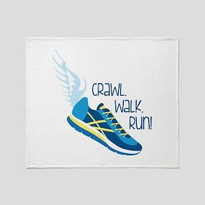 Crawl. Walk. Run! Throw Blanket