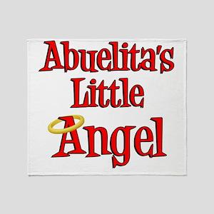 Abuelitas Little Angel Throw Blanket