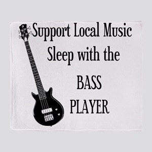 sleep with the bass player 1 Throw Blanket
