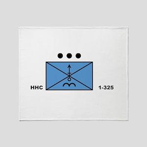 MORT Platoon, HHC, 1-325 Throw Blanket