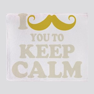 I Mustache You To Carry On Throw Blanket