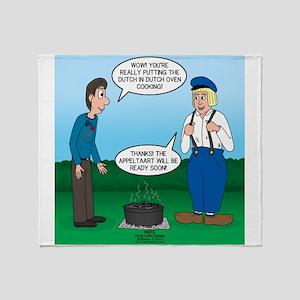 Dutch Oven Cooking Throw Blanket