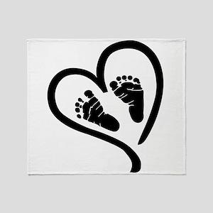 Baby Heart (Maternity) Throw Blanket
