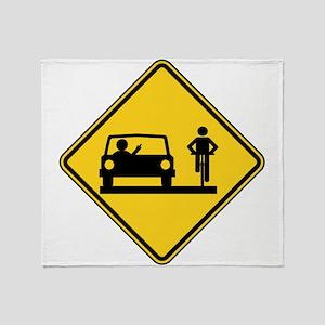 Road Rage Throw Blanket