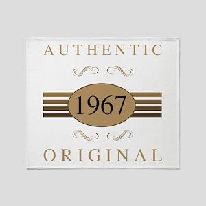 Authentic 1967 Birthday Throw Blanket