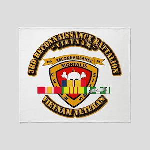SSI - 3rd Reconnaissance Bn w VNSVC Ribbon Throw B