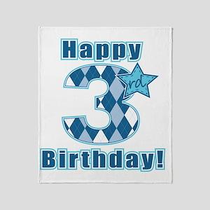 Happy 3rd Birthday! Throw Blanket