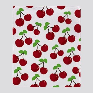 Cherries Throw Blanket