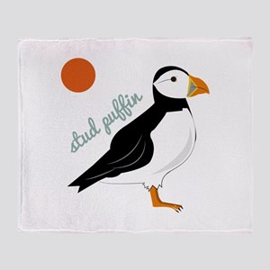 Stud Puffin Throw Blanket