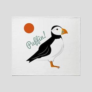 Puffin! Bird Throw Blanket