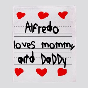 Alfredo Loves Mommy and Daddy Throw Blanket