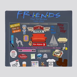 Friends Symbol and Quotes Throw Blanket