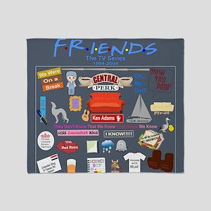 Friends TV Show Collage Throw Blanket