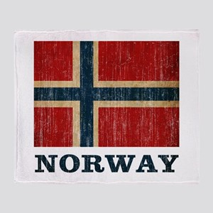 Vintage Norway Throw Blanket
