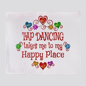 Tap Dancing Happy Place Throw Blanket