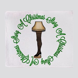 Christmas Leg Lamp Throw Blanket