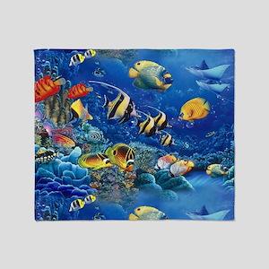 Tropical Fish Throw Blanket