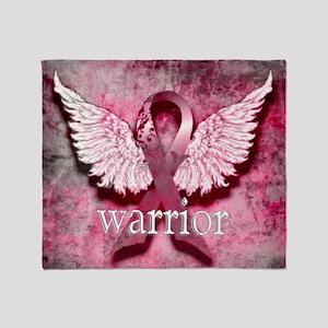 Pink Ribbon Warrior By Vetro Designs Throw Blanket