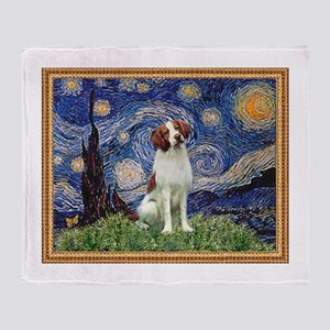 Starry Night/Brittany Throw Blanket