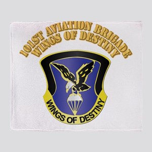 DUI - 101st Aviation Brigade with Text Throw Blank