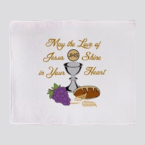 THE LOVE OF JESUS Throw Blanket