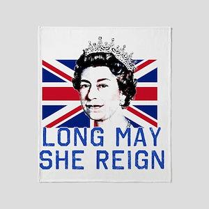 Queen Elizabeth II:  Long May She Re Throw Blanket