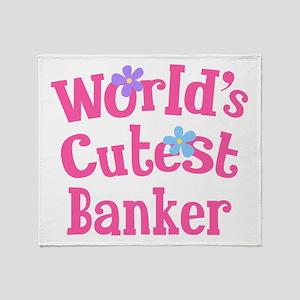 World's Cutest Banker Throw Blanket