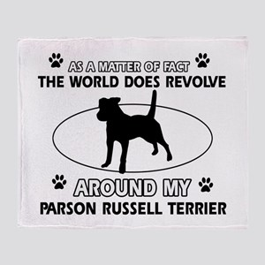 Parson Russell Terrier dog funny designs Throw Bla