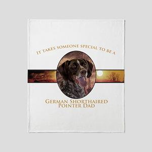 Pointer Dad Throw Blanket