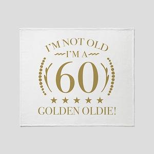 60th Birthday Golden Oldie Throw Blanket