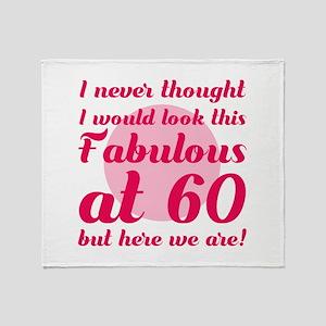 Fabulous 60th Birthday Throw Blanket