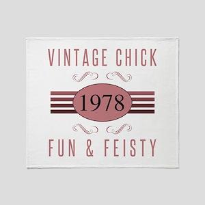 1978 Vintage Chick Throw Blanket
