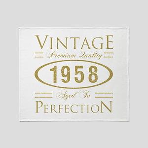 Vintage 1958 Premium Throw Blanket